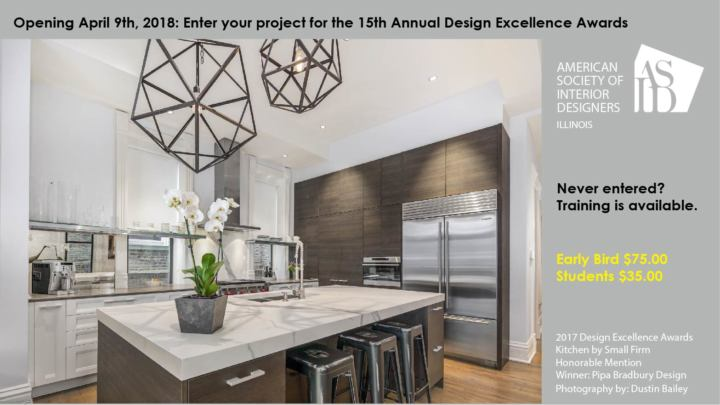 Open for submissions: 15th Annual Design Excellence Awards Competition