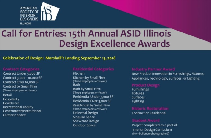 OPEN NOW: 15th Annual Call for Entries Design Excellence Awards